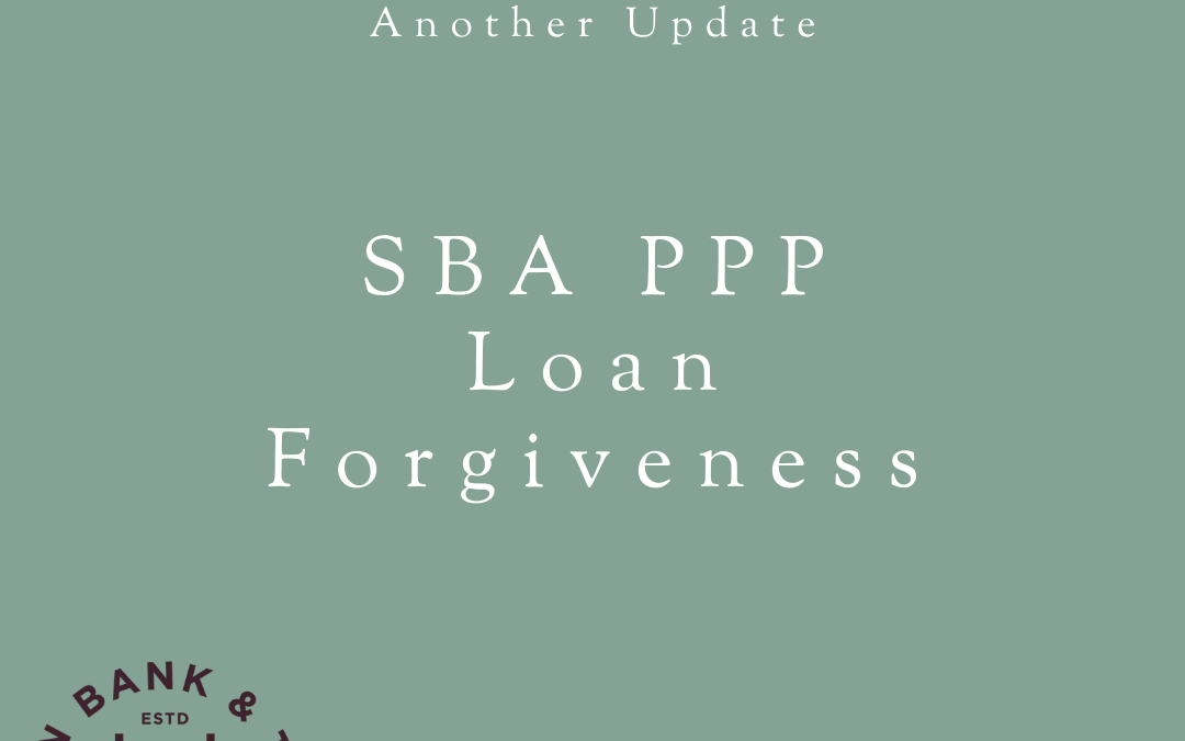 Another Update from us on SBA PPP Loan Forgiveness